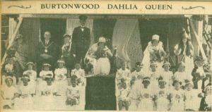 Monica Chenery, Dahlia Queen 1935, with her retinue
