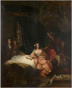 Joseph and Potiphar's Wife (copy after Rembrandt) (Thomas Robson 1798-1871) (Image courtesy of ART UK)