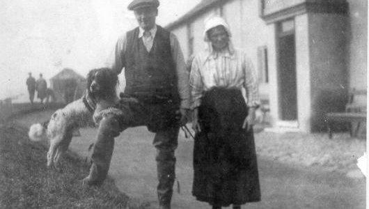 Burthems with Dog