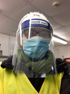 Hannah White volunteering at COVID Vaccination Centre